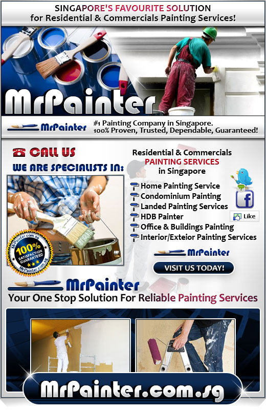 Mr Painter - Singapore #1 Painting Company specialising in all types of painting services for HDB, Condo, Privates & Buildings.