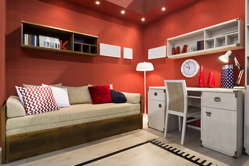 Red Is A Very Intense And Bright Color If You Choose Paint For The Walls Of Your Room Then It Can Look Harsh Bold On Wall