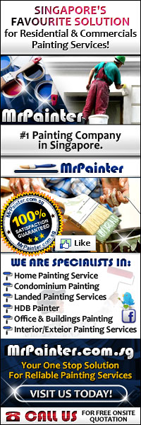We are Specialists in Home Painting Service, Condominium Painting, Landed Painting Service, HDB Painter, Office & Building Painting Service & Interior/Exterior Painting Services. #1 Painting Contractor in Singapore