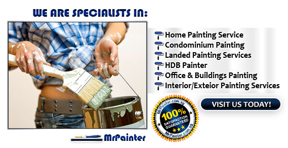 We are Specialists in Home Painting Service, Condominium Painting, Landed Painting Service, HDB Painter, Office & Building Painting Service, scaffolding painting & Interior/Exterior Painting Services